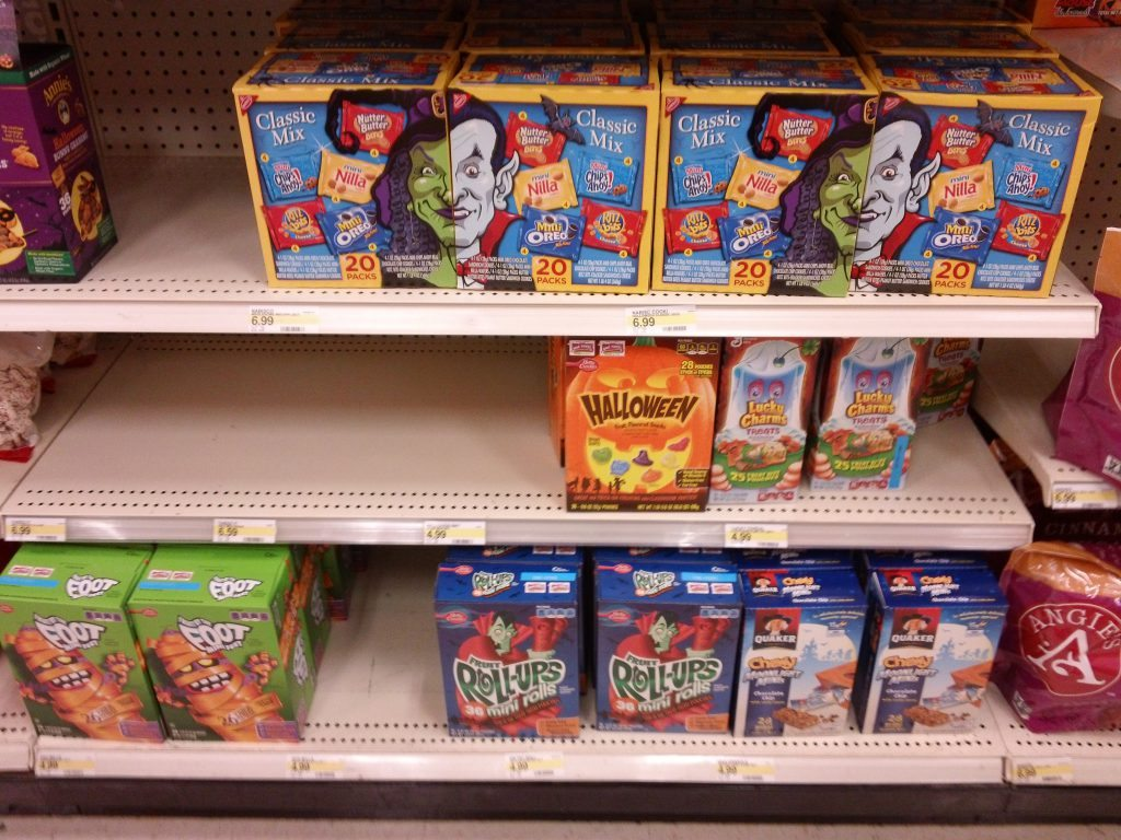 Target Halloween Candy, fruit roll ups