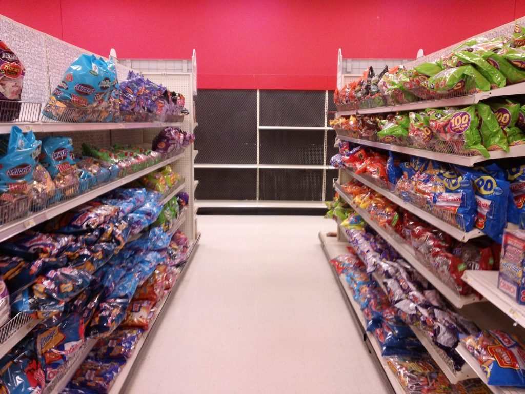 Target Halloween Section Candy