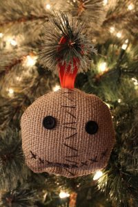 sam trick r treat christmas ornament