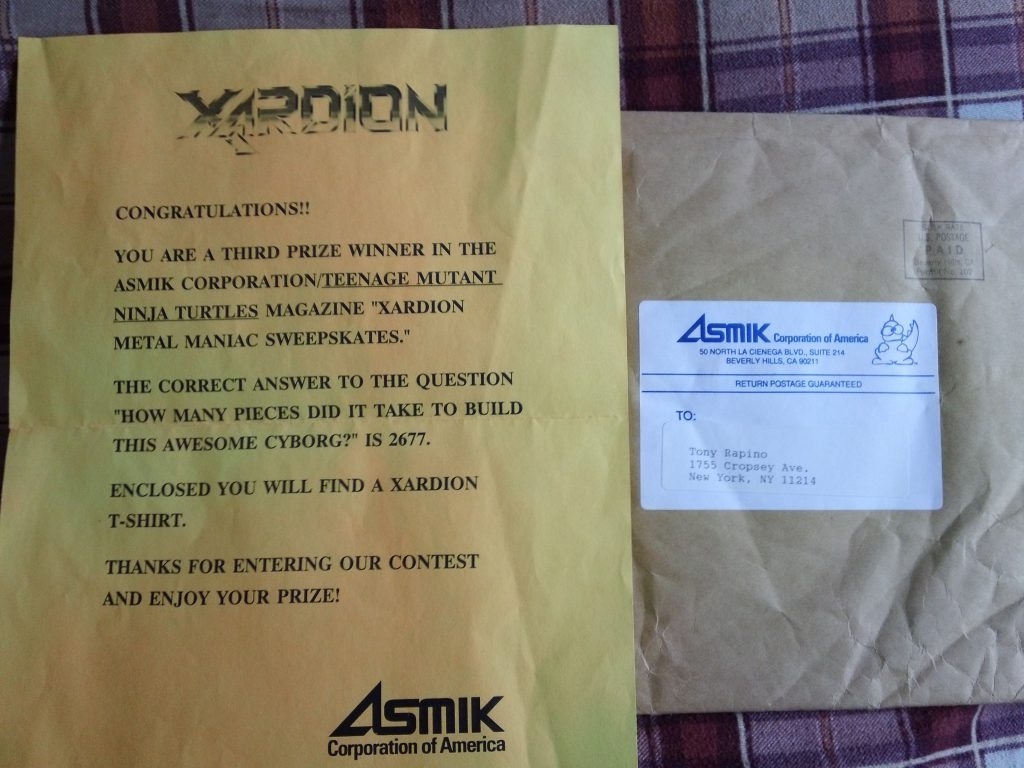 xardion contest winner letter