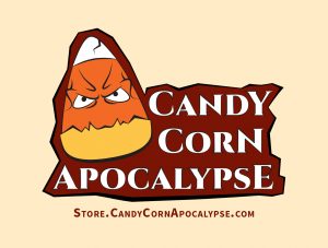 Candy Corn Apocalypse Halloween Club Horror Sticker