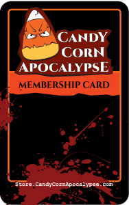 Candy Corn Apocalypse Membership card Halloween Club