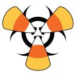 candy corn hazardous material halloween icon