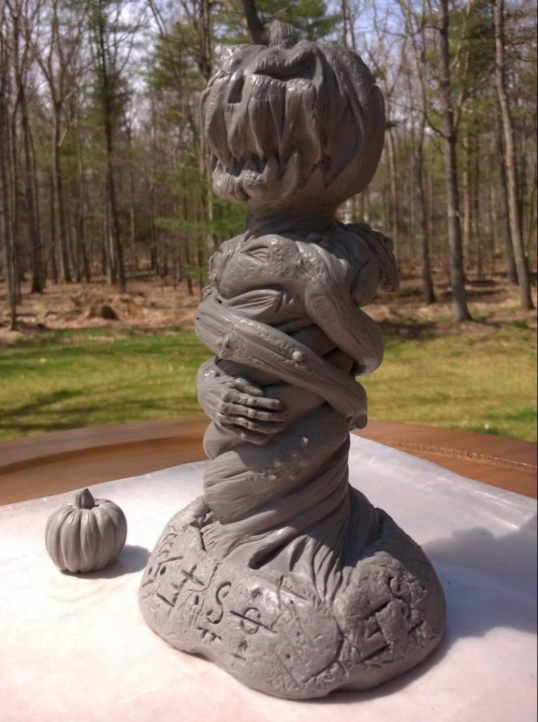 Halloween Pumpkin God Jack o lantern idol sculpture