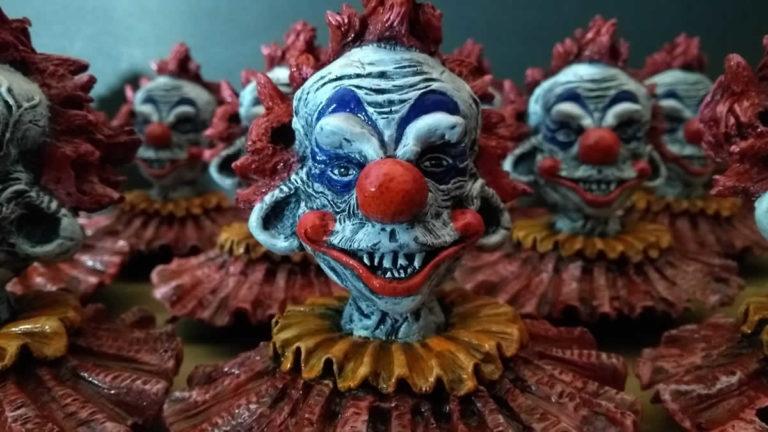 Killer clown sculpture